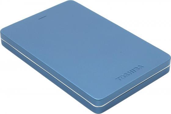 Внешний жесткий диск 2.5 USB3.0 1Tb Toshiba Canvio Alu HDTH310EL3AA синий