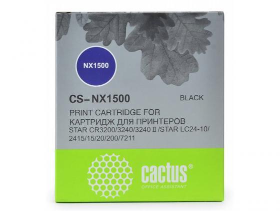 Картридж ленточный CACTUS CS-NX1500 для Star NX-1500/24xx/LC-8211 картридж ленточный cactus cs lq100