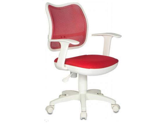Кресло Бюрократ CH-W797/R/TW-97N спинка красный сетка TW-35N сиденье красный TW-97N белый пластик кресло руководителя бюрократ kb 9 на колесиках сетка красный [kb 9 r tw 97n]