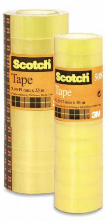 Клейкая лента Scotch 7000039525 12мм x 10 м 12 рулонов лента клейкая двусторонняя scotch 12 мм х 10 м