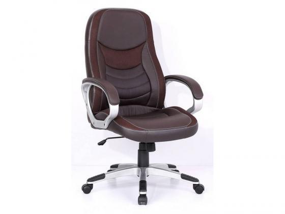 Кресло руководителя Бюрократ T-9910/BROWN искусственная кожа вставки коричневый кресло для руководителя бюрократ t 9999 brown