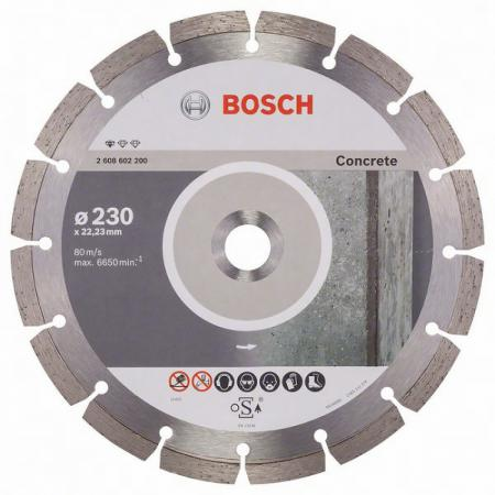 Алмазный диск Bosch Concrete Professional 230-22.23 2608602200 bosch gkf 600 professional 060160a101