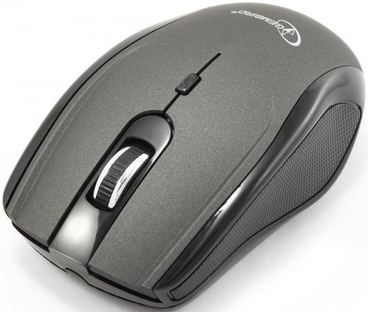 Мышь беспроводная Gembird MUSW-213 чёрный серебристый USB мышь gembird musw 213