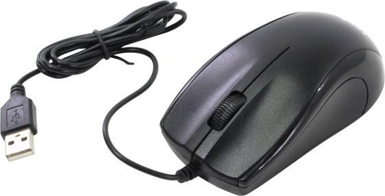 лучшая цена Мышь проводная Oklick 185M чёрный USB