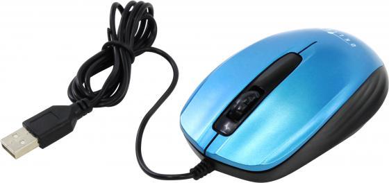 Мышь проводная Oklick 195M синий чёрный USB genuine leather unisex wristband bracelet w 4pcs hemp cords brown 5 pcs