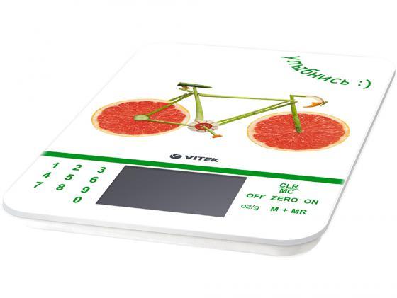 Весы кухонные Vitek VT-2413 W белый рисунок