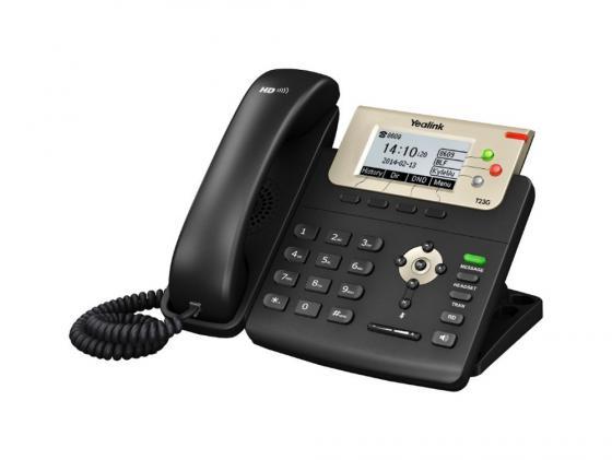 Телефон IP Yealink SIP-T23G 3 SIP-аккаунта 2x10/100/1000Mbps 2.8 LCD PoE BLF BLA телефон dect yealink w52h dect дополнительная sip трубка