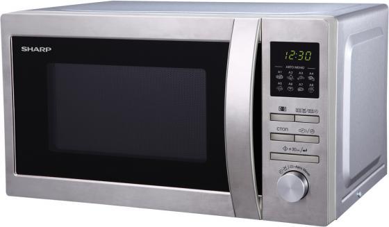 Микроволновая печь Sharp R2495ST 800 Вт серебристый микроволновая печь bbk 23mws 927m w 900 вт белый