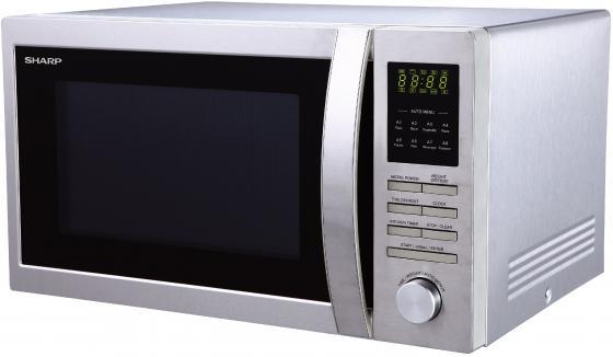 Микроволновая печь Sharp R-3495ST 900 Вт серебристый микроволновая печь sharp r 2000rw 800 вт белый черный