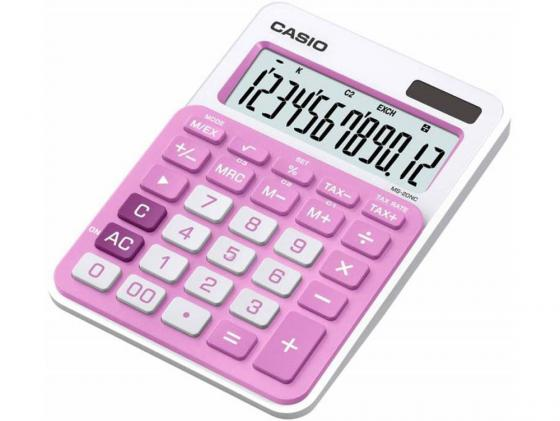 Калькулятор Casio MS-20NC-PK-S-EC 12-разрядный розовый калькулятор casio ms 20nc bu s ec 12 разрядный голубой