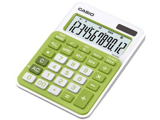 Калькулятор Casio MS-20NC-GN-S-EC 12-разрядный зеленый калькулятор печатающий casio fr 2650rc w ec 12 разрядный серый белый