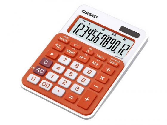Калькулятор Casio MS-20NC-RG-S-EC 12-разрядный оранжевый калькулятор casio ms 20nc pk s ec 12 разрядный розовый