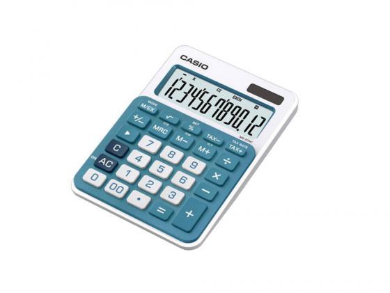Калькулятор Casio MS-20NC-BU-S-EC 12-разрядный голубой калькулятор печатающий casio fr 2650rc w ec 12 разрядный серый белый