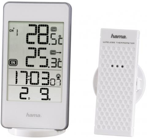 лучшая цена Метеостанция Hama 123123 EWS-840 белый