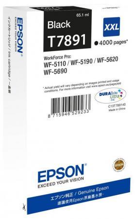 Картридж Epson C13T789140 для WF-5xxx черный 100% new original printhead print head for epson wf 7525 wf 7521 wf7520 wf 7515 wf 7511 wf 7510 7015 printer head printhead