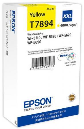 Фото - Картридж Epson C13T789440 для WF-5110DW WF-5620DWF желтый 4000стр картридж epson c13t789240 для wf 5110dw wf 5620dwf голубой 4000стр
