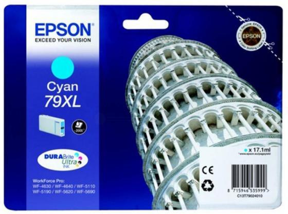 цена Картридж Epson C13T79024010 для WF-5110DW WF-5620DWF голубой онлайн в 2017 году