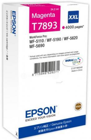 Фото - Картридж Epson C13T789340 для WF-5110DW WF-5620DWF пурпурный 4000стр картридж epson c13t789240 для wf 5110dw wf 5620dwf голубой 4000стр