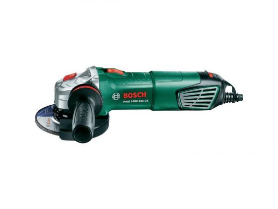 Углошлифовальная машина Bosch PWS 1000-125 CE 125 мм 1000 Вт углошлифовальная машина болгарка bosch pws 750 125