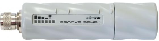 Точка доступа MikroTik Groove A-52HPn 802.11bgn 125Mbps 2.4 ГГц 5 ГГц 1xLAN белый беспроводная точка доступа mikrotik rbmapl 2nd map lite with 650mhz cpu 64mb ram 1xlan built in dual chain 2 4ghz 802 11bgn dual chain wireless with integrated