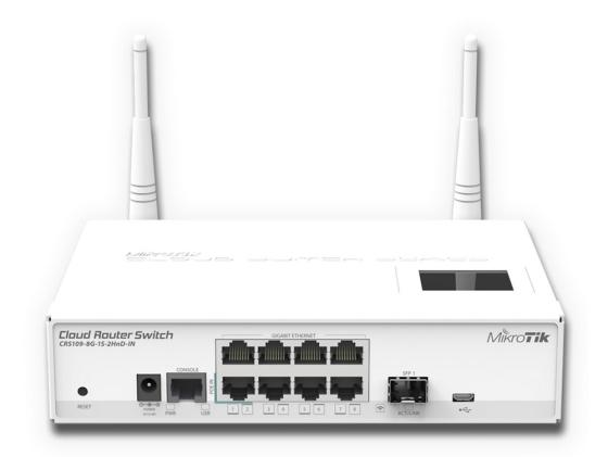 Маршрутизатор Mikrotik CRS109-8G-1S-2HnD-IN 8x10/100/1000Mbps 1xSFP 1xmicroUSB Wi-Fi стоимость