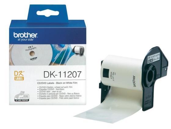 Фото - Наклейки Brother DK11207 на CD/DVD диаметр 58мм 100шт в рулоне minecraft наклейки для гаджетов paladone minecraft