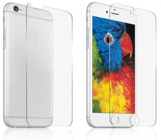 Защитное стекло ударопрочное DF iSet-04 для iPhone 6 Plus 0.33 мм 2шт Стекло + Плнека