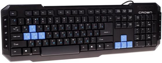 Клавиатура проводная Crown CMK-314 USB черный резинки упаковочные alco 2768 1 х образные 150х11мм 0 1кг ассорти