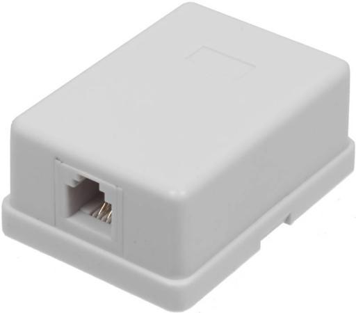лучшая цена Розетка Lanmaster телефонная настенная 1 порт 6P4C винтовая белый TWT-SS1-12-WH