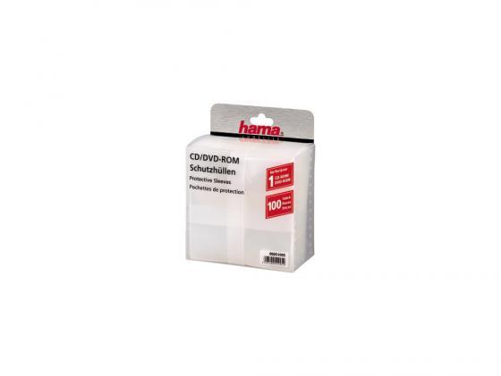 все цены на Конверты Hama для CD/DVD полипропилен прозрачный 100шт H-51095
