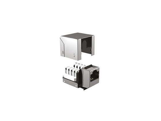 лучшая цена Модуль информационный Brand-Rex Cat6Plus C6CJAKU012 Keystone RJ45 кат.6 черный UTP 110 IDC