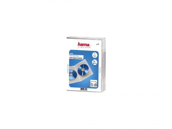 Коробка HAMA для 2 DVD прозрачный 5шт H-83892 блокада 2 dvd