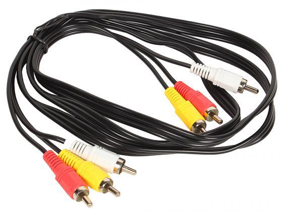 Кабель соединительный 1.5м VCOM Telecom 3xRCA(M)-3xRCA(M) VAV7150-1.5M цена и фото