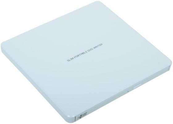 Внешний привод DVD±RW LG GP60NW60 USB 2.0 белый Retail оптический привод dvd rw lg gp60nb60 внешний usb черный ret