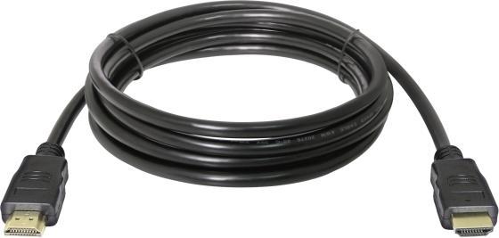 Кабель HDMI 3м Defender 87457 круглый черный кабель hdmi 5м defender 87353 круглый черный