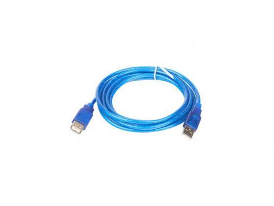 Фото - Кабель удлинительный USB 2.0 AM-AF 5.0м VCOM Telecom прозрачная изоляция голубой VUS6956 переходник usb 2 0 af af vcom vad7901 ca408