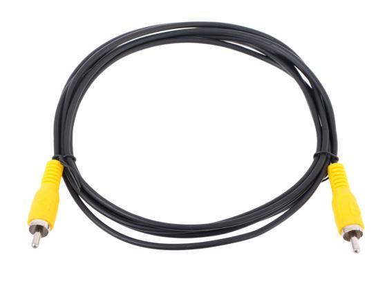 Кабель соединительный 2.0м VCOM Telecom RCA(M)-RCA(M) черный TAV4158-2M кабель межблочный аналоговый rca supra dual rca 2 m