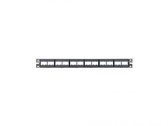 Патч-панель Panduit CPP24WBLY 19 24 порта наборная черный патч панель nikomax 19 1u наборная 24 модуля keystone