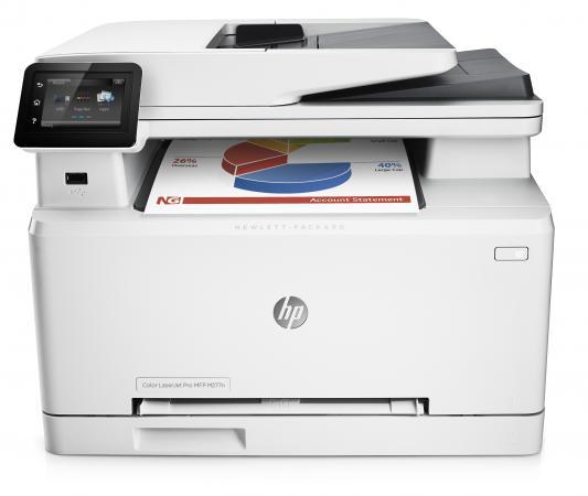 МФУ HP LaserJet Pro 200 color M277n B3Q10A цветное A4 18ppm 600x600dpi Ethernet USB мфу hp color laserjet pro m274n