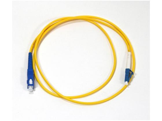 Патч-корд Vcom LC-SC UPS волоконно-оптический шнур одномодовый Simplex 1м VSU302-1M оптический шнур vcom fc sc upc одномодовый simplex