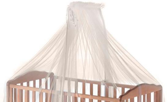 Круговой тюлевый балдахин на кроватку Italbaby (крем/820,0000-6) балдахин тюлевый круговой italbaby happy family