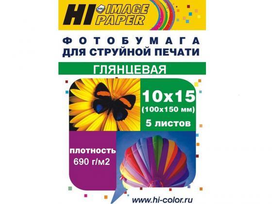 Бумага Hi-Black A20296 10x15 690г/м2 глянцевая 5л бумага hi black a200102u a4 230г м2 глянцевая односторонняя 100л h230 a4 100