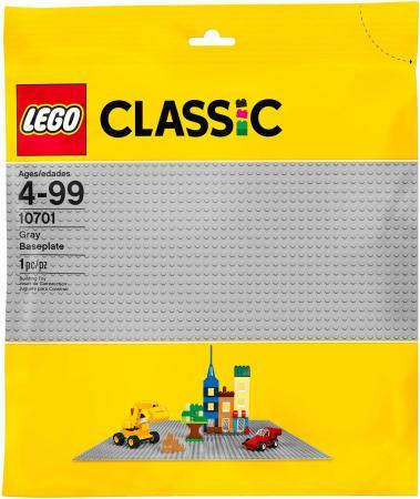 Конструктор LEGO Строительная пластина серого цвета 10701