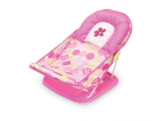 18515 Лежак с подголовником для купания Summer Infant Deluxe Baby Bather розовый ванночка для купания summer infant джакузи с душем lil' luxuries голубая 18863