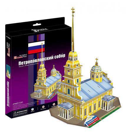 Пазл 3D 37 элементов CubicFun Петропавловский собор (Россия) C140h