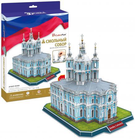 Пазл 3D 108 элементов CubicFun Смольный Собор (Россия) MC202h