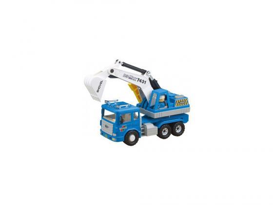 Машинка экскаватор Daesung Toys MAX DS-956-1 1 шт 42 см синий машинка daesung toys пожарная 404