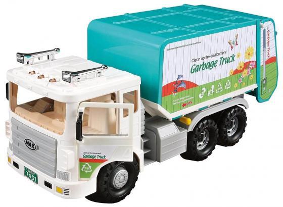Мусоровоз Daesung Toys MAX белый машинка daesung toys пожарная 404