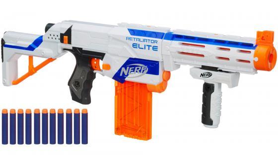 все цены на Бластер Hasbro Nerf Элит Риталиэйтор для мальчика белый 98696