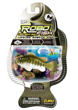 Интерактивная игрушка ZURU Большеротый окунь от 3 лет разноцветный 2532 zuru роборыбка немо в поисках дори zuru